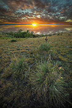 Oahe Sunset  by Aaron J Groen