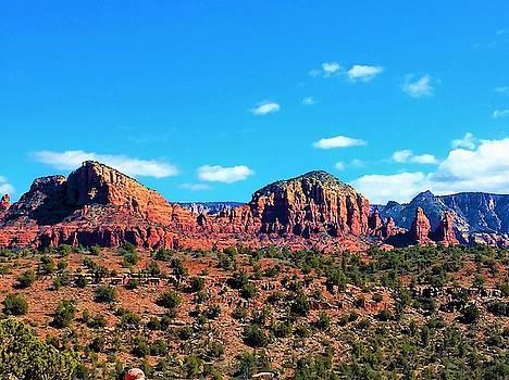 Oak Creek Jack's Canyon blue sky clouds red rock 0228 3 by David Frederick