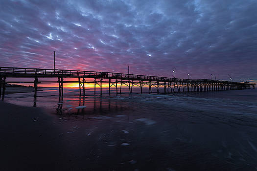 Oak Island Sunrise at the Pier by Nick Noble