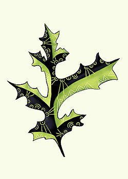 Oak Leaf With Tattoos by Boriana Giormova