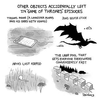 Objects Left in Game of Thrones Episodes by Avi Steinberg