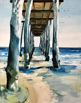 Ocean City Pier by Roseann Amaranto