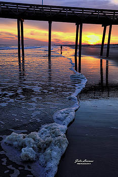 Ocean City Sunset 1 by John Loreaux