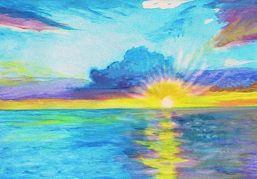 Ocean in the morning by Dobrotsvet Art