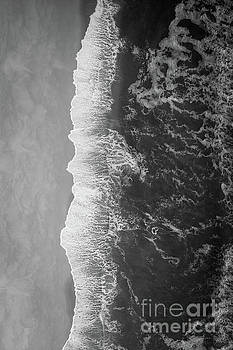 Ocean Meets Land BW by Michael Ver Sprill