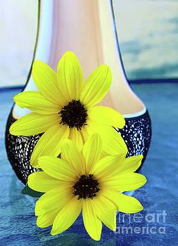 Ocean Blue Flower shoe by Sherry Little Fawn Schuessler
