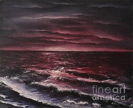 Ocean seperates land not souls by Lia Van Elffenbrinck