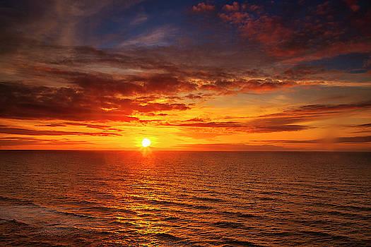 Ocean Sunset by Andrew Soundarajan