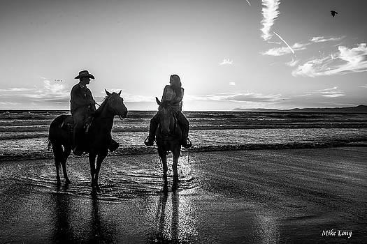 MIKE LONG - Ocean Sunset on Horseback