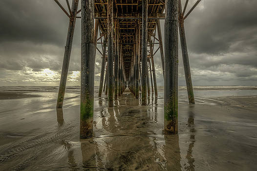 Oceanside Pier on a Stormy Day by Constance Puttkemery