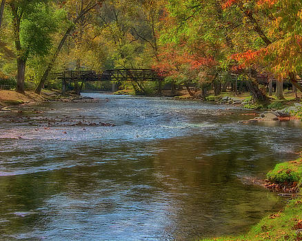 Oconaluftee River - Cherokee, North Carolina by Mitch Spence