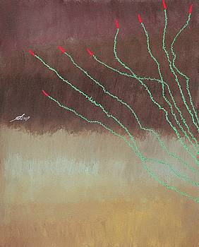Ocotillo original painting by Sol Luckman