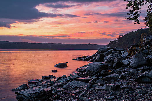 October Dawn Over the Hudson I - 2018 by Jeff Severson