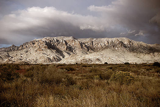 October snow on the Sandias by Howard Holley