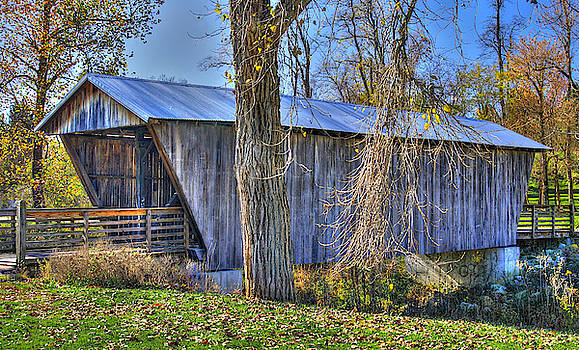 Ohio Country Roads - Mc Cleery-Walter Covered Bridge Over Fetters Run No. 8 - Fairfield County by Michael Mazaika