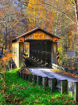 Ohio Country Roads - Olin's Covered Bridge Over the Ashtabula River No. 6 - Ashtabula County by Michael Mazaika