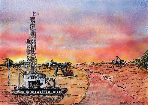 Oil Country Sunset by Barry Jones