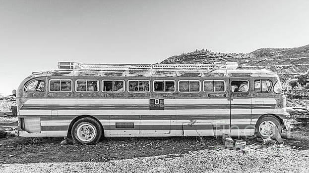 Old Abandoned Vintage Bus Jerome Arizona by Edward Fielding