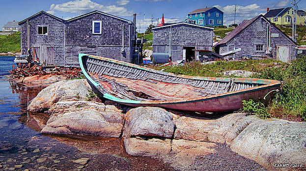 Old  Boat at Peggys Cove by Ken Morris