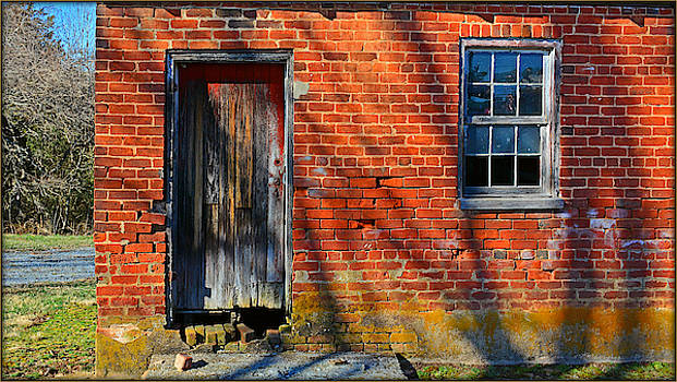 Old Brick Building With Shadows by Constance Lowery