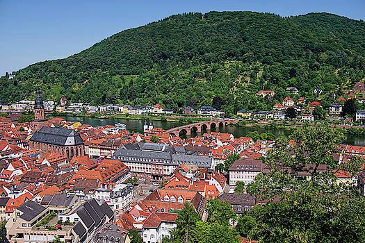 Old Bridge Over the Neckar River in Heidelberg by Lucinda Walter