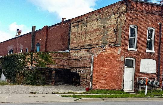Old Building Disappearing by Susan Wyman