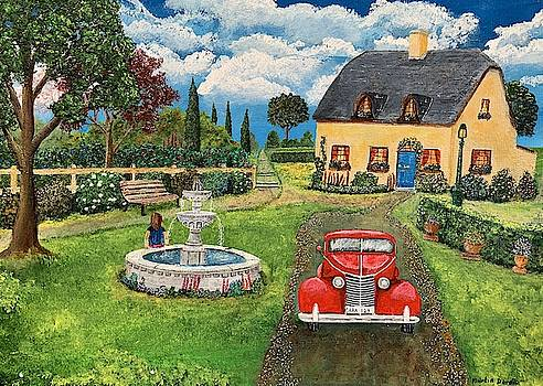 Old Car Painting by Martin Dardis