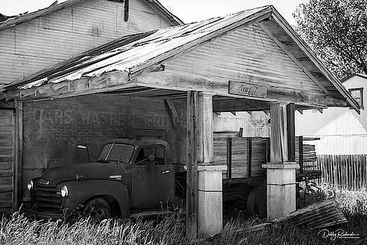 Old Chevy Truck in black and white by Debby Richards