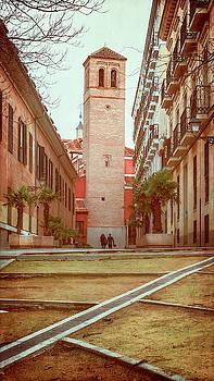 Old Church in Madrid Spain by Joan Carroll