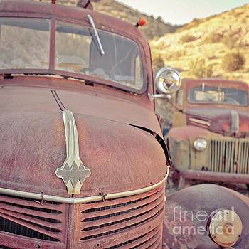 Edward Fielding - Old Friends Two Rusty Vintage Cars Jerome Arizona