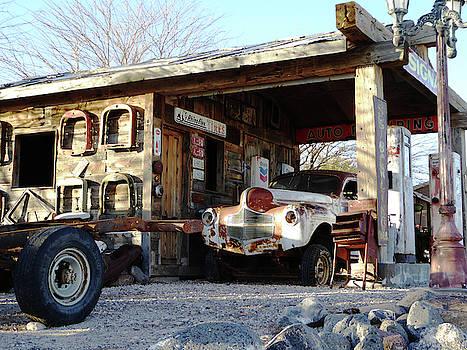 Old Gas Station by Alan Socolik