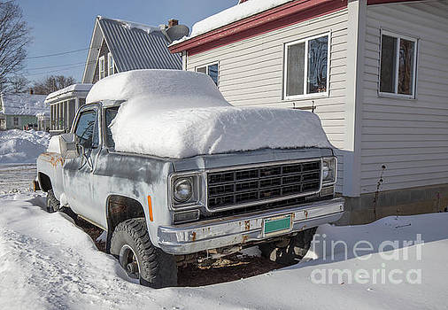Old GMC Pickup Truck in the Snow Windsor Vermont by Edward Fielding