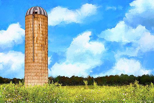 Mark Tisdale - Old Grain Silo - Late Summer Landscape