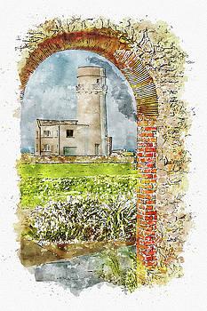 Old Hunstanton Lighthouse from St Edmunds Chapel by John Edwards