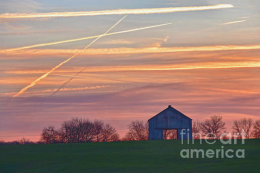 Old Kentucky Barn at Sunrise by Catherine Sherman