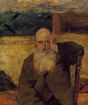 Old Man at Celeyran - 1882 - PC - Painting - oil on canvas by Henri de Toulouse-Lautrec
