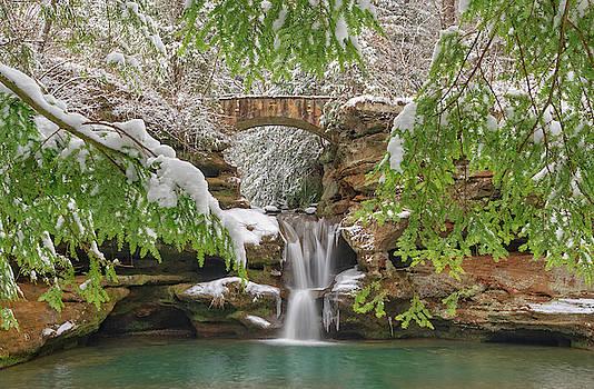 Old Man's Cave in Winter, Hocking Hills State Park in Ohio by Ina Kratzsch
