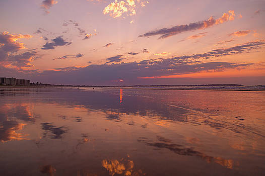Old Orchard Beach Glorious Sunset by Betsy Knapp