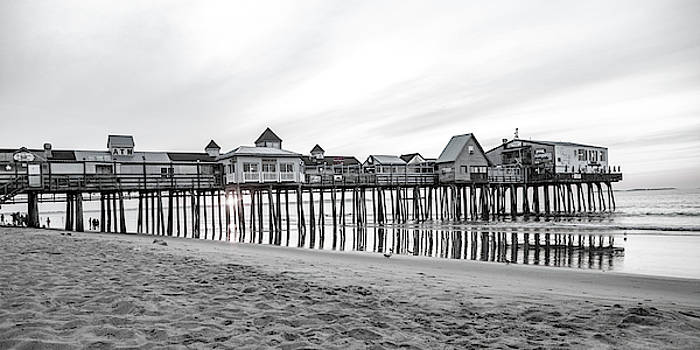 Old Orchard Beach Pier Classic Sunrise by Betsy Knapp