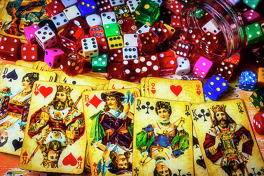 Old Playing Cards And Dice by Garry Gay