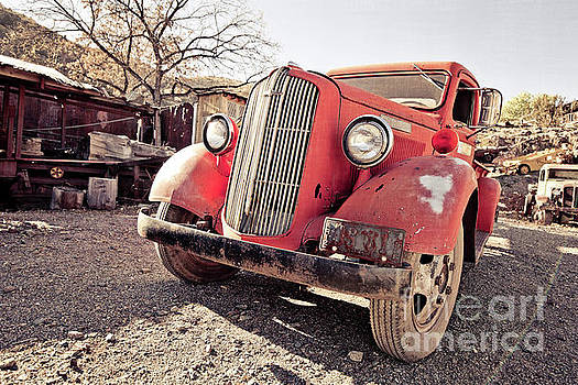 Edward Fielding - Old Red Truck Jerome Arizona