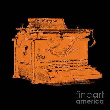 Edward Fielding - Old Remington Typewriter Graphic Design Orange