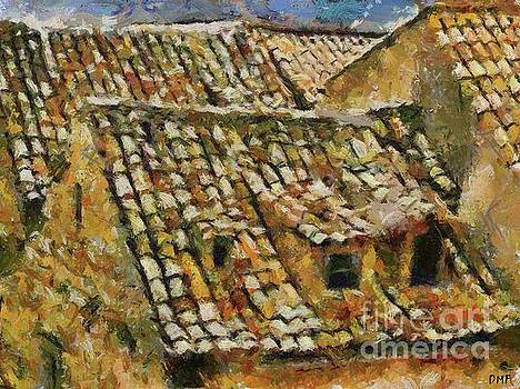 Old Roof Of Dubrovnik by Dragica Micki Fortuna