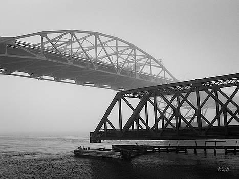 Old Sakonnet River Bridge II BW by David Gordon