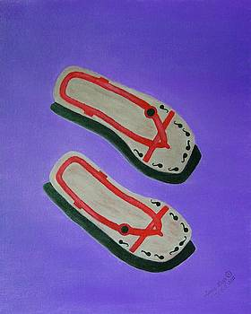 Old Slippers by Lorna Maza