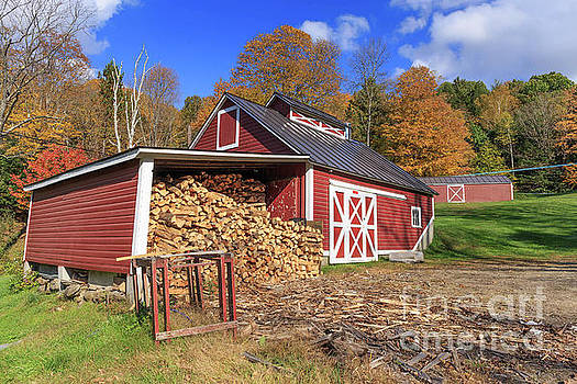 Old Sugar Shack Vermont by Edward Fielding
