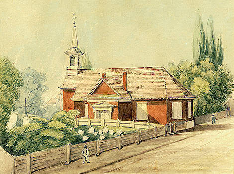 Old Swedes' Church, Southwark, Philadelphia by William Breton