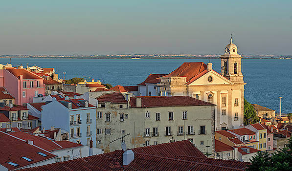 Old town of Lisbon and the Duero in Portugal by Vicen Photography