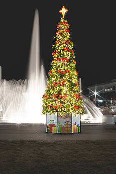 Old Towne Christmasville Tree by Christine Buckley