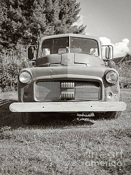 Old Vintage Farm Truck Sepia Toned by Edward Fielding